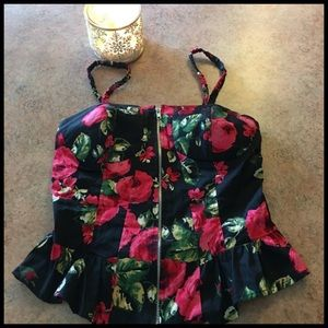 3 for $25- heart soul floral top